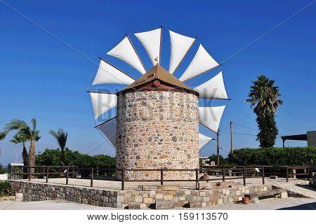 Windmill in Antimahia on island Kos; Greece