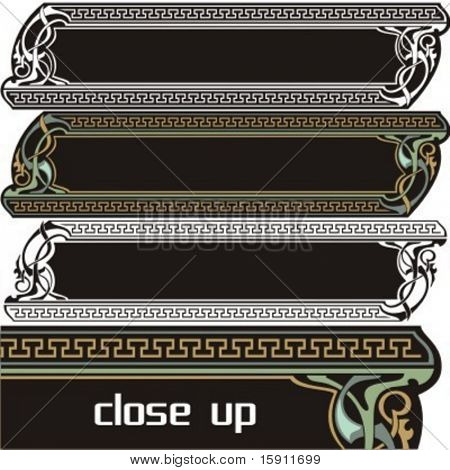 A pack of 3 very CLEAN and EXQUISITE panels with ornamental elements. All vectors are ready for vinyl cutting as well.