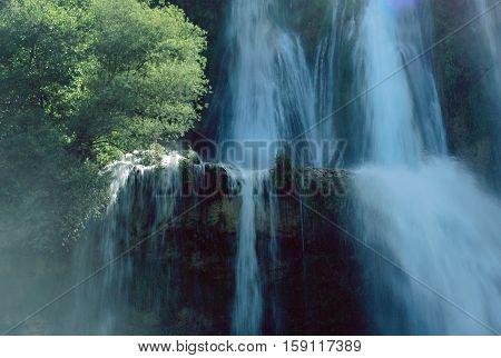 Glandieu Waterfall In Savoy
