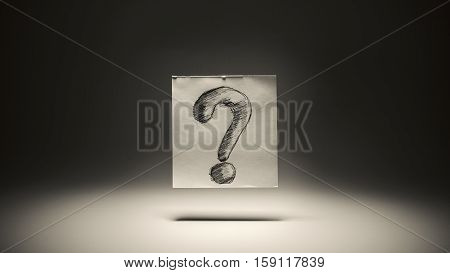 Question Mark On Paper