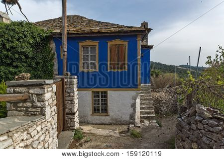 Old houses in village of Theologos,Thassos island, East Macedonia and Thrace, Greece