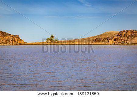 A Small Dam Near The City Ouarzazate