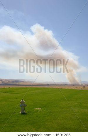 Fieldburn With Fire Hydrant