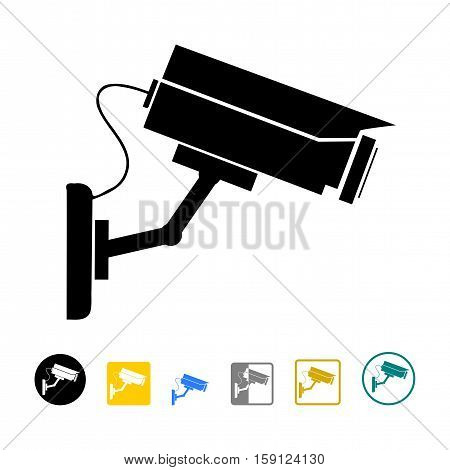 Camera cctv, safety icon, video surveillance camera