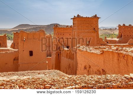 Conserved Part Of The Fortress Ait Ben Haddou
