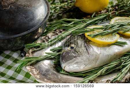 Cooking Fish With Lemon And Spices.