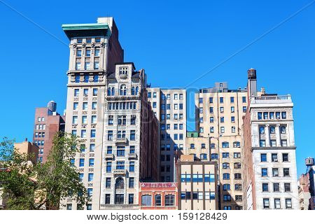 Old Highrises At Union Square, Manhattan, Nyc