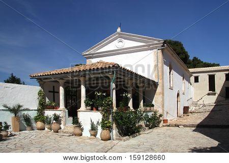 Monastery of St. George's on the island of Zakynthos. Greece