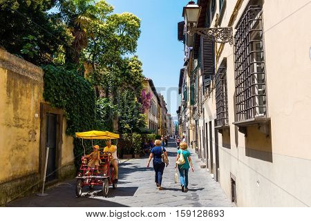 Street View Of Lucca, Italy