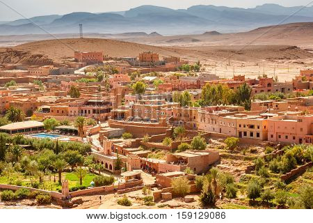 The View From The Fortress Ait Ben Haddou, Morocco