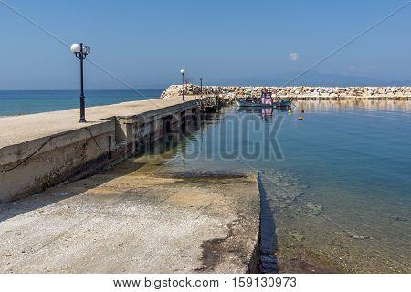 Panorama with Port of Skala Sotiros, Thassos island, East Macedonia and Thrace, Greece