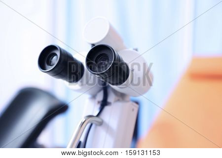 Colposcope in gynecological room
