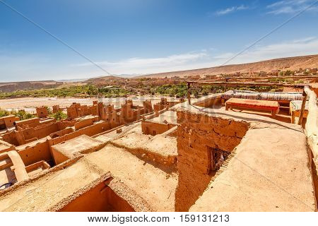 View Of The Roof The Fortress Ait Ben Haddou