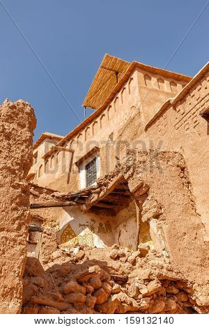 Collapsed Wall Of The House In The Fortress Ait Ben Haddou