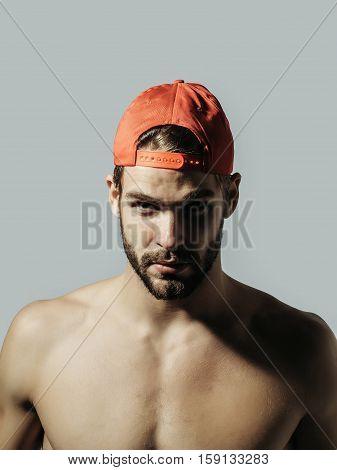 Handsome Man In Red Cap