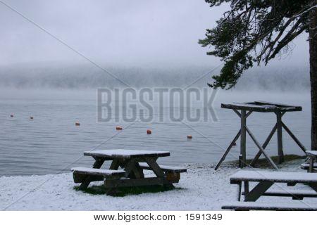Snowy Morning At Diamond Lake