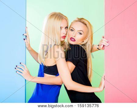Pretty Girls In Colorful Studio