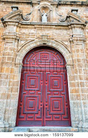 Entrance To A Church