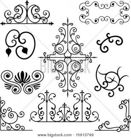 A set of 10 exquisitive and very clean ornamental designs.