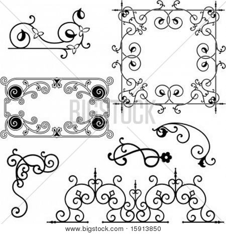 A set of 7 exquisitive and very clean ornamental designs.