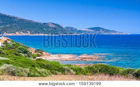 Panoramic Coastal Landscape Of South Corsica