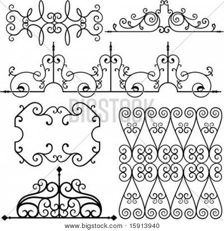 A set of 6 exquisitive and very clean ornamental designs.
