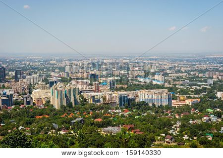 View Over Almaty Skyline