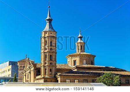 Church of San Juan de los Panetes in Zaragoza. Aragon, Spain