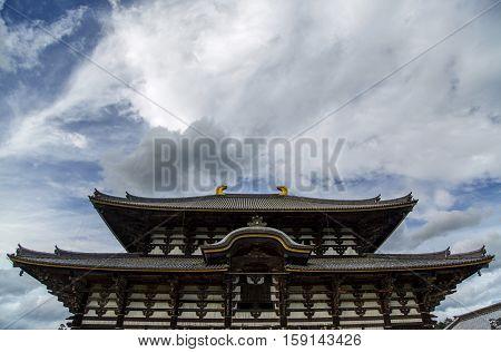 Todai Ji Temple At Nara, Japan