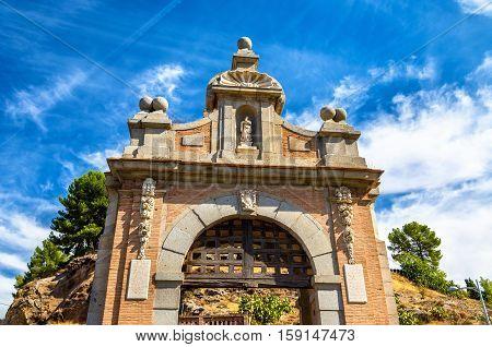 Gate at the Alcantara Bridge in Toledo - Spain