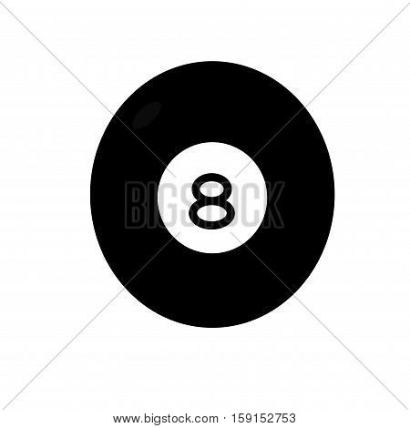 8 ball pool billiard game sport  vector icon.