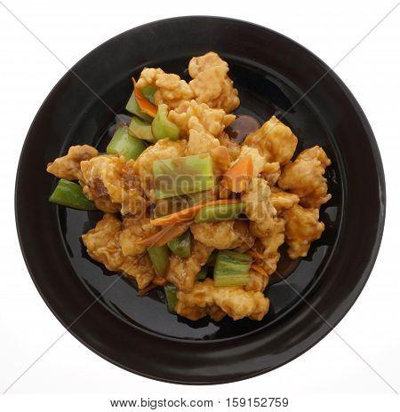 Chinese Food. Fresh Fish Carp
