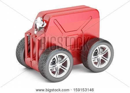 jerry can with wheels technical assistance concept. 3D rendering isolated on white background