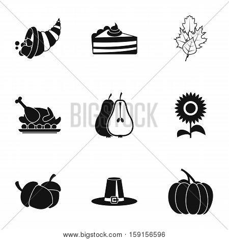 Autumn festival icons set. Simple illustration of 9 autumn festival vector icons for web