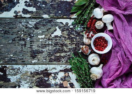 Mushrooms And Cooking Ingredients