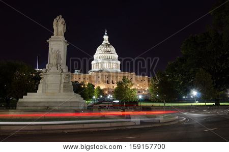 Capitol Hill And The Peace Monument