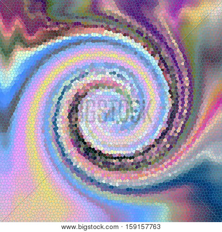 Abstract background of the pastels gradient with visual  wave, pinch,  twirl and stained glass effects