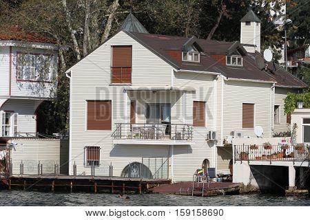 Building in Bosphorus Strait Istanbul City Turkey