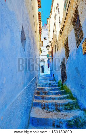 Beautiful Blue Medina Of Chefchaouen, Morocco