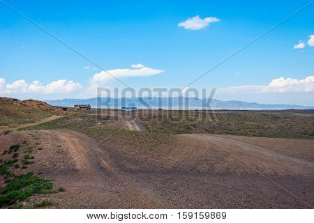 Steppe Landscape In Kazakhstan, Central Asia