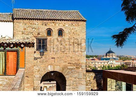 The Gate Bab al-Mardum, or Puerta de Valmardon, in Toledo - Spain