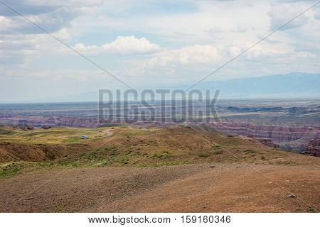 View Over Sharyn Or Charyn Canyon, Kazakhstan