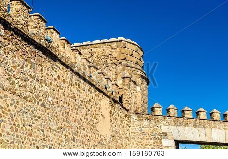 Details of Puerta de Bisagra Nueva Gate in Toledo - Spain