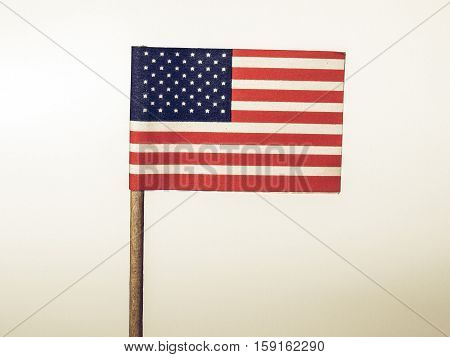 Vintage Looking American Flag