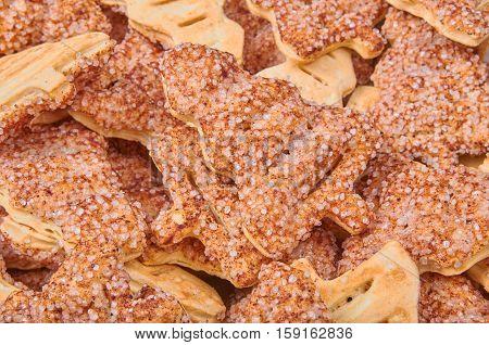 Christmas tree cookies. Cookies sprinkled with sugar and cinnamon