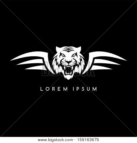 Tiger Aviator Symbol Logo Logotype Theme