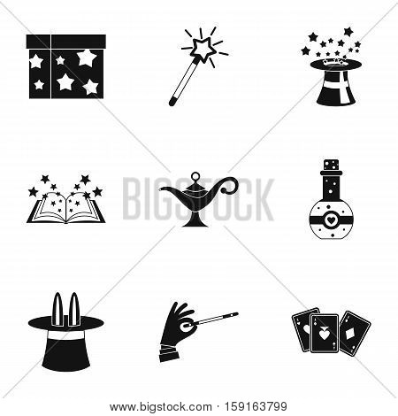 Witchery icons set. Simple illustration of 9 witchery vector icons for web