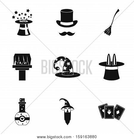 Witchcraft icons set. Simple illustration of 9 witchcraft vector icons for web