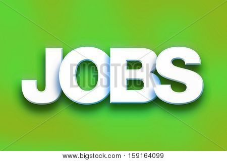 Jobs Concept Colorful Word Art