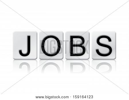 Jobs Isolated Tiled Letters Concept And Theme